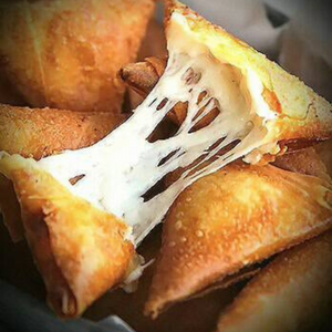 cheese-filled samosa