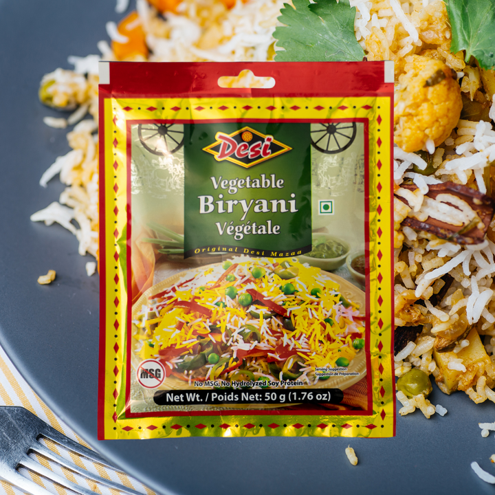 This delicious, aromatic seasoning is used for making delicious vegetable biryani. Add it to your rice to make a perfect, exotic flavour.