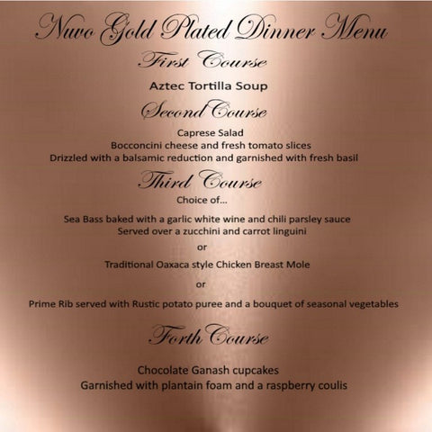 Nuvo Dining - GOLD PACKAGE - PLATED