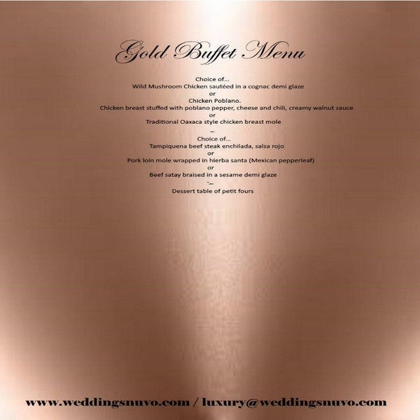 Nuvo Dining - GOLD PACKAGE - BUFFET