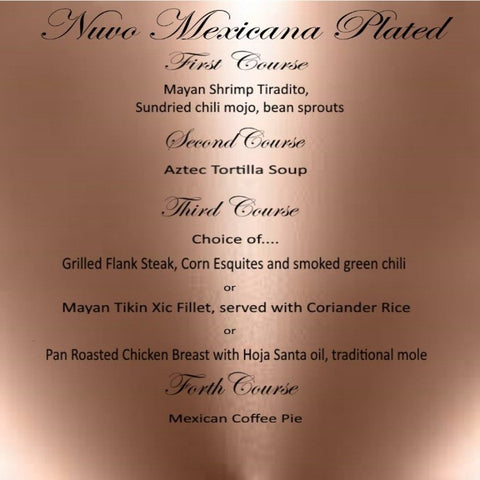 Nuvo Dining - Plated Menu - Mexicana