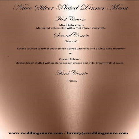 Nuvo Dining - SILVER PACKAGE - PLATED