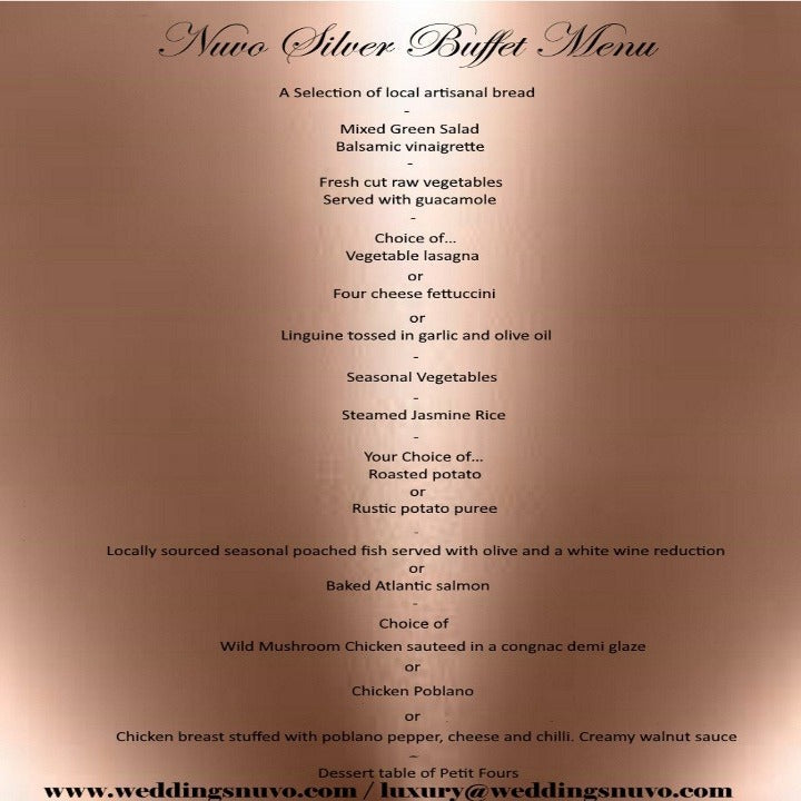 Nuvo Dining - SILVER PACKAGE - BUFFET