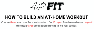 HOW TO BUILD AN AT-HOME WORKOUT