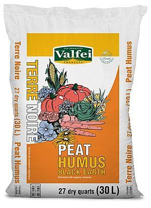 Valfei - Premium Peat Humus - Black Earth 27 qt.