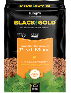 Sungro - Black Gold Canadian Sphagnum Peat Moss 2.2 cu. ft.