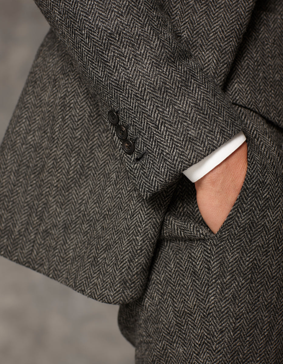 Grey Suit Herringbone