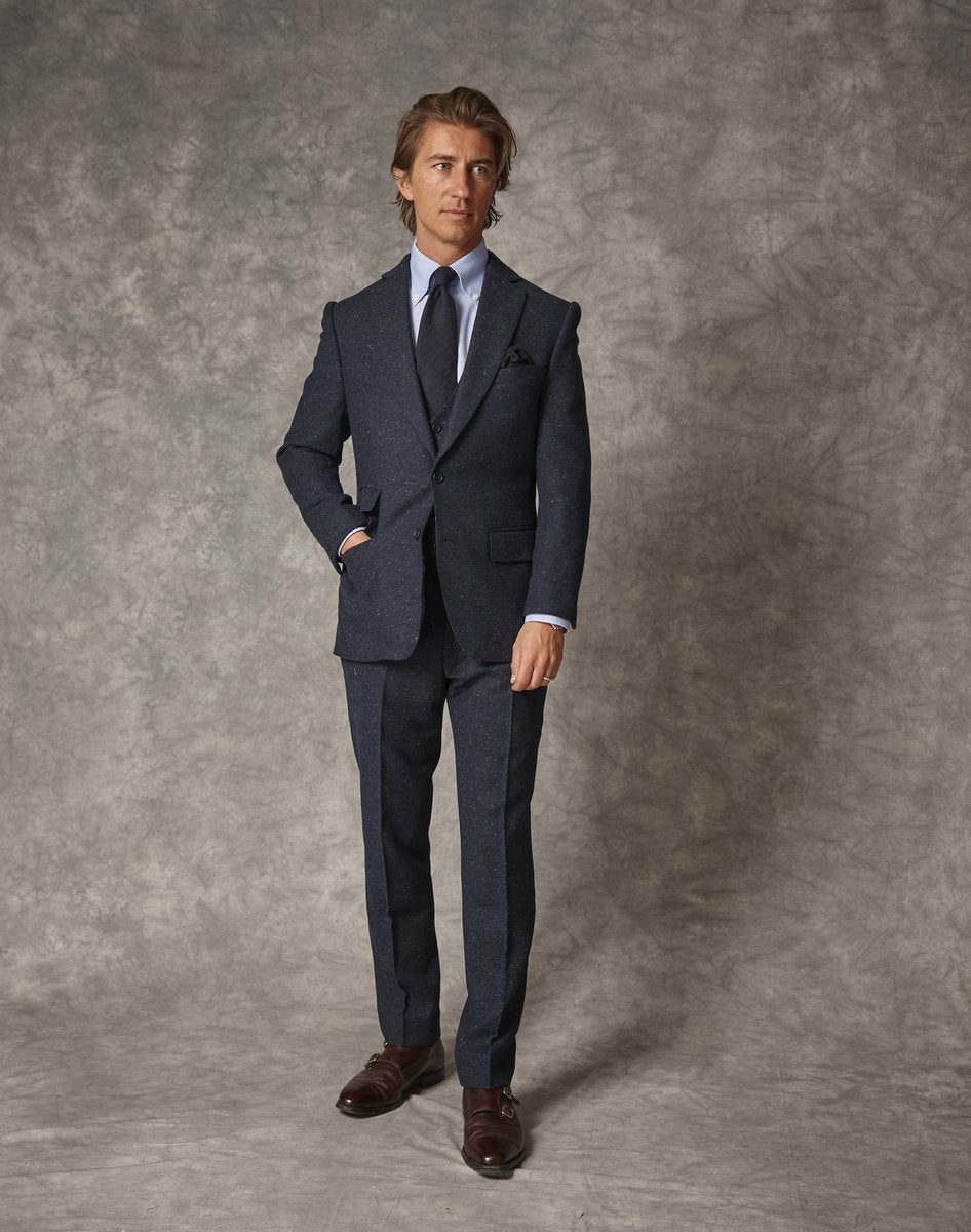 Navy Donegal Suit 3 Piece