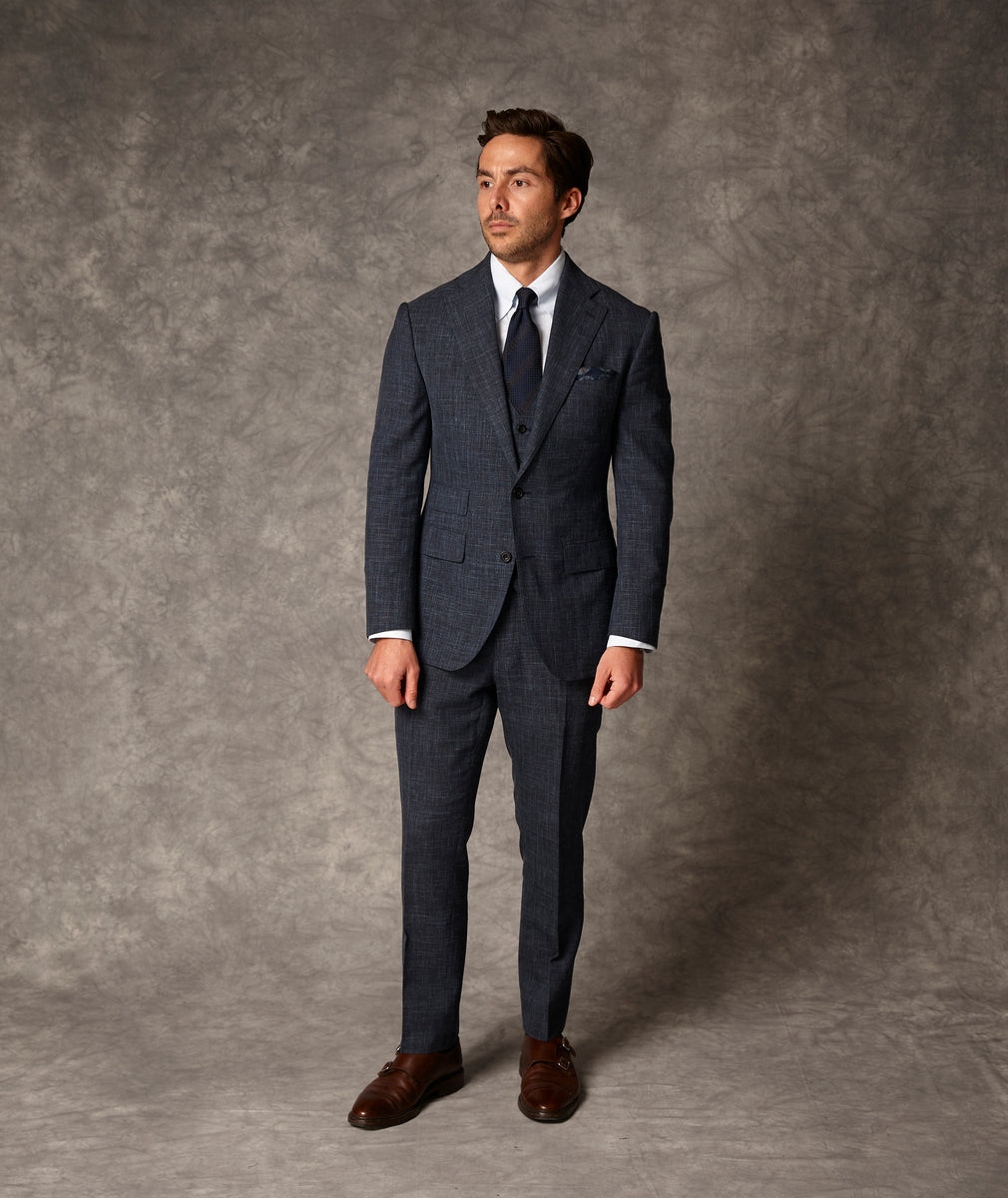 Wool Silk Linen Suit
