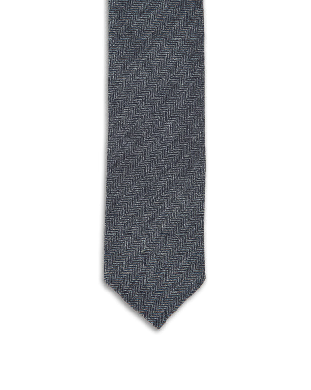 Light Grey Cashmere Herringbone Tie