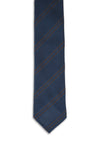 Navy Brown Genadine Club Tie
