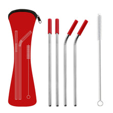 Load image into Gallery viewer, Reusable Stainless Steel Straw Set with Portable Case - Purely Trü