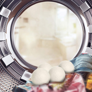 6Pc Hypoallergenic Eco-Friendly Reusable Wool Tumble Dryer Balls - Purely Trü