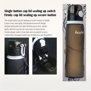 750Ml Hot/Cold Foldable Sports Water Bottle - Purely Trü