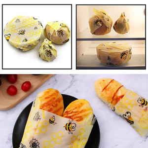 3 Pack Beeswax Reusable Eco-Friendly Food Wrap - Purely Trü