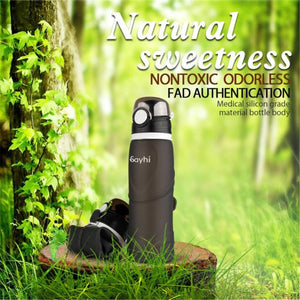 Collapsible 750ml Sports Water Bottle Reusable and Eco-Friendly - Purely Trü