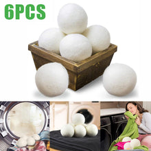 Load image into Gallery viewer, 6Pc Hypoallergenic Eco-Friendly Reusable Wool Tumble Dryer Balls - Purely Trü