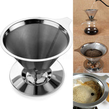 Load image into Gallery viewer, Reusable Eco-Friendly Stainless Steel Pour Over Coffee Filter - Purely Trü