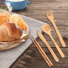 Load image into Gallery viewer, 3 Set Reusable & Eco-Friendly Bamboo Cutlery Set - Purely Trü