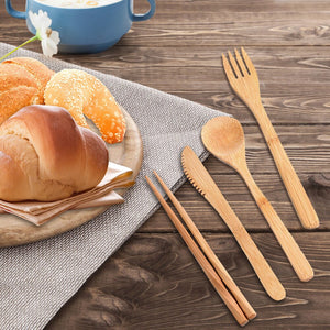 3 Set Reusable & Eco-Friendly Bamboo Cutlery Set - Purely Trü