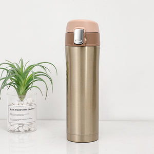 500ML Stainless Steel Water Bottle/Coffee Mug - Purely Trü