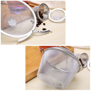 Eco-Friendly and Reusable Stainless Steel Mesh Tea Filters - Purely Trü