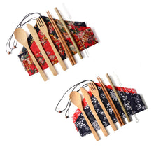 Load image into Gallery viewer, 4 Sets of Eco-Friendly Reusable Bamboo Cutlery Set - Purely Trü