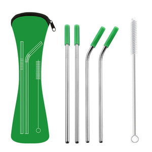 Reusable Stainless Steel Straw Set with Portable Case - Purely Trü