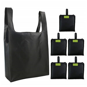 6 PC Eco-Friendly Reusable Foldable Shopping Bag - Purely Trü