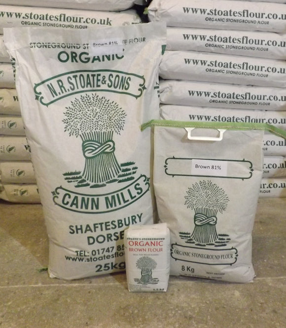 Organic Stoneground 81% Brown Flour