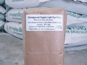 Organic Stoneground Light Rye Flour 1.5kg