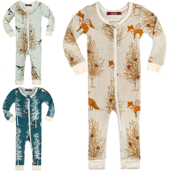 MilkBarn Holiday Print Pajamas - BOGO 50% off!
