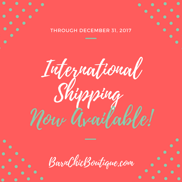 Now offering International Shipping for the Holidays!