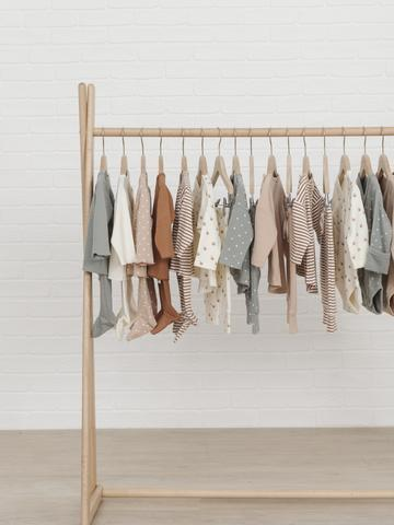Quincy Mae Spring Summer 2020 Collection on Hanging Rack