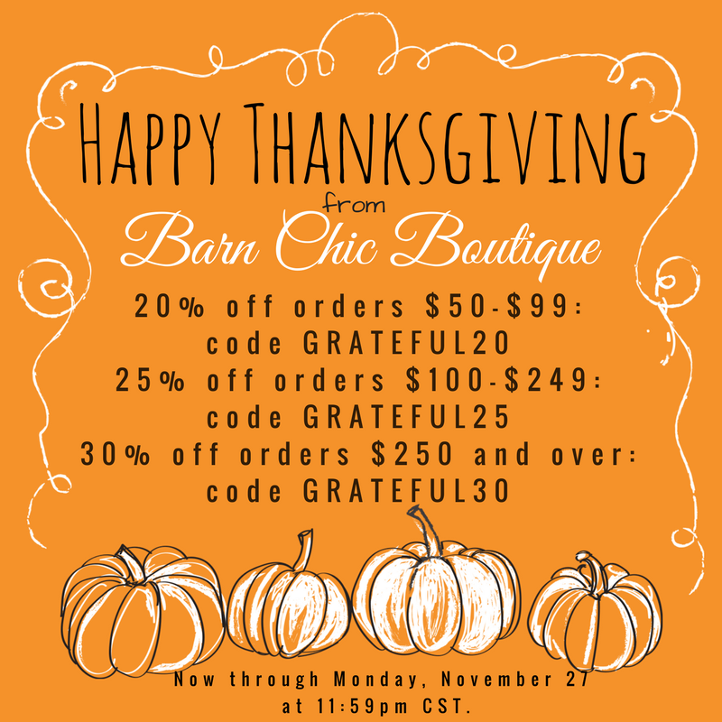 Thanksgiving Sale at Barn Chic Boutique-Barn Chic Boutique