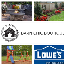 Home improvement gift card donated by Barn Chic Boutique