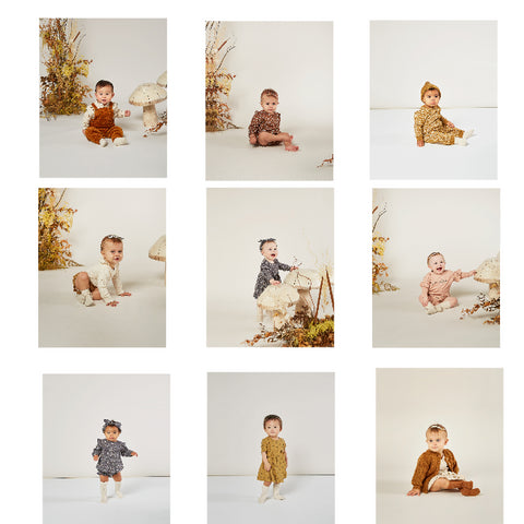 Rylee + Cru Enchanted Forest Autumn 2020 Collection Lifestyle shots baby