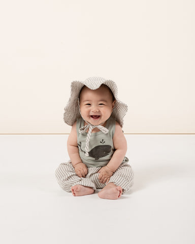 Rylee + Cru Hometown Collection Spring Summer 2020 Whale Tank Olive Stripe Sun Hat Harem Pant