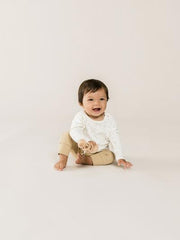 Quincy Mae Baby Layette Pant Onesie Kimono Honey Bone Booties