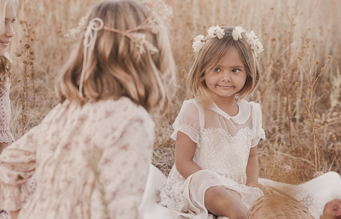 Noralee debut collection: girls wearing Winter 2020 dresses (new brand by creators of Rylee + Cru)