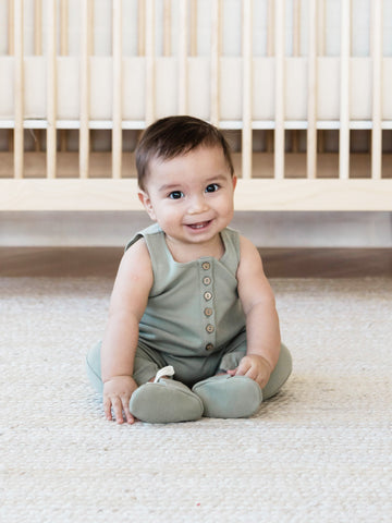 Sleeveless Organic Cotton Baby Jumpsuit Quincy Mae SS19