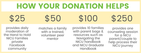 Hand to Hold: How your donation helps support NICU and infant loss families