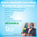 BRANDED Elastic Washable Face Mask