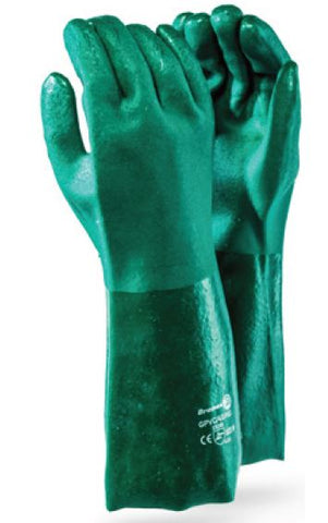 GREEN PVC RANGE GLOVES - GPVC/40/HG