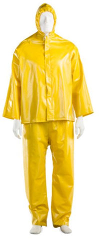 HYDRO RAIN SUIT YELLOW VIRGIN PVC WITH STORM FLAP
