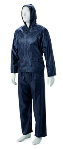 RUBBERISED RAIN SUIT NAVY