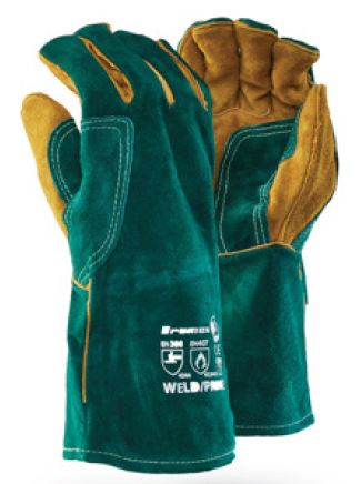 DROMEX GREEN WELD PRIME GLOVES - WELD/GREEN