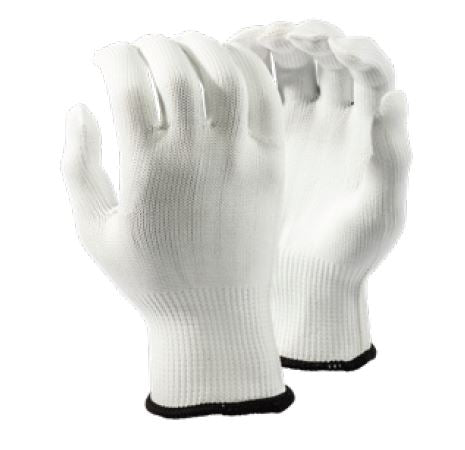 INSPECTORS WHITE NYLON GLOVES - 13GG