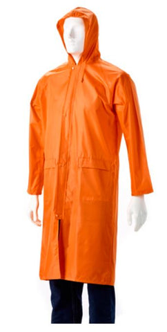 RUBBERISED RAINCOAT ORANGE