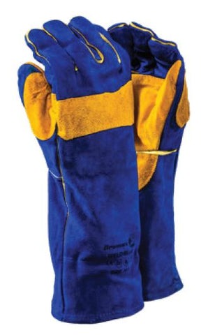 DROMEX WELDMASTER PREMIUM WELDING GLOVES - WELD/BLUE ELBOW